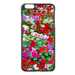 Colorful Petunia Flowers Apple Iphone 6 Plus/6s Plus Black Enamel Case by FunnyCow