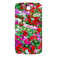 Colorful Petunia Flowers Samsung Galaxy Mega I9200 Hardshell Back Case by FunnyCow