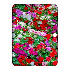 Colorful Petunia Flowers Samsung Galaxy Tab 4 (10 1 ) Hardshell Case  by FunnyCow