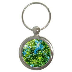 Forest   Strain Towards The Light Key Chains (round)  by FunnyCow