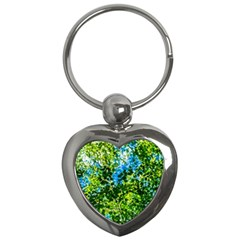 Forest   Strain Towards The Light Key Chains (heart)  by FunnyCow