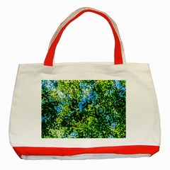 Forest   Strain Towards The Light Classic Tote Bag (red) by FunnyCow