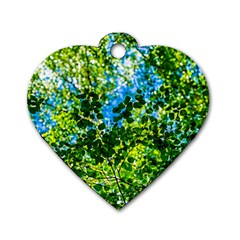 Forest   Strain Towards The Light Dog Tag Heart (two Sides) by FunnyCow
