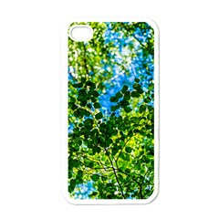 Forest   Strain Towards The Light Apple Iphone 4 Case (white) by FunnyCow