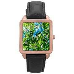 Forest   Strain Towards The Light Rose Gold Leather Watch  by FunnyCow