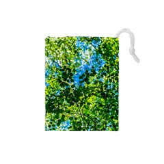 Forest   Strain Towards The Light Drawstring Pouches (small)  by FunnyCow