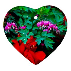 Bleeding Heart Flowers Ornament (heart) by FunnyCow