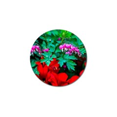 Bleeding Heart Flowers Golf Ball Marker (10 Pack) by FunnyCow