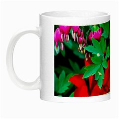 Bleeding Heart Flowers Night Luminous Mugs by FunnyCow