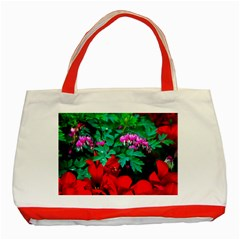 Bleeding Heart Flowers Classic Tote Bag (red) by FunnyCow