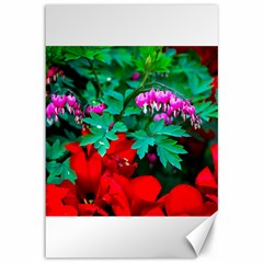 Bleeding Heart Flowers Canvas 12  X 18   by FunnyCow