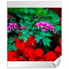 Bleeding Heart Flowers Canvas 16  X 20   by FunnyCow