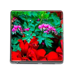 Bleeding Heart Flowers Memory Card Reader (square 5 Slot) by FunnyCow