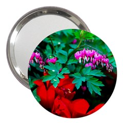 Bleeding Heart Flowers 3  Handbag Mirrors by FunnyCow