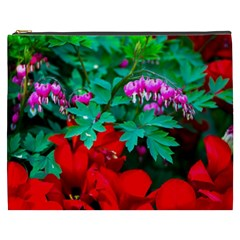 Bleeding Heart Flowers Cosmetic Bag (xxxl) by FunnyCow