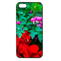 Bleeding Heart Flowers Apple Iphone 5 Seamless Case (black) by FunnyCow