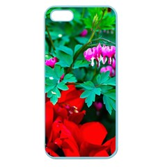 Bleeding Heart Flowers Apple Seamless Iphone 5 Case (color) by FunnyCow