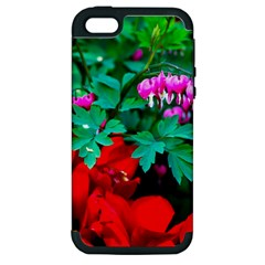 Bleeding Heart Flowers Apple Iphone 5 Hardshell Case (pc+silicone) by FunnyCow