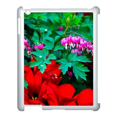 Bleeding Heart Flowers Apple Ipad 3/4 Case (white) by FunnyCow