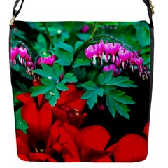 Bleeding Heart Flowers Flap Messenger Bag (s) by FunnyCow