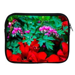 Bleeding Heart Flowers Apple Ipad 2/3/4 Zipper Cases by FunnyCow