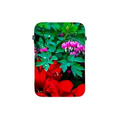 Bleeding Heart Flowers Apple Ipad Mini Protective Soft Cases by FunnyCow
