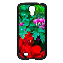 Bleeding Heart Flowers Samsung Galaxy S4 I9500/ I9505 Case (black) by FunnyCow