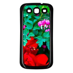 Bleeding Heart Flowers Samsung Galaxy S3 Back Case (black) by FunnyCow