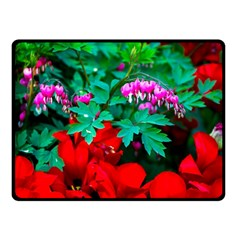 Bleeding Heart Flowers Double Sided Fleece Blanket (small)  by FunnyCow