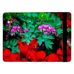 Bleeding Heart Flowers Samsung Galaxy Tab Pro 12 2  Flip Case by FunnyCow