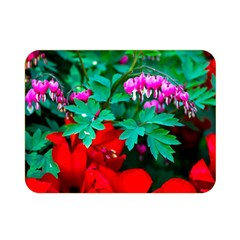 Bleeding Heart Flowers Double Sided Flano Blanket (mini)  by FunnyCow