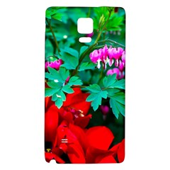 Bleeding Heart Flowers Samsung Note 4 Hardshell Back Case by FunnyCow