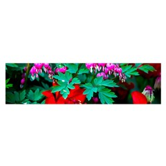 Bleeding Heart Flowers Satin Scarf (oblong) by FunnyCow