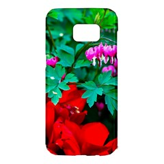 Bleeding Heart Flowers Samsung Galaxy S7 Edge Hardshell Case by FunnyCow