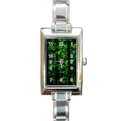 Emerald Forest Rectangle Italian Charm Watch by FunnyCow