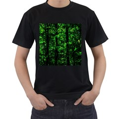 Emerald Forest Men s T Shirt (black) (two Sided) by FunnyCow