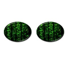 Emerald Forest Cufflinks (oval) by FunnyCow