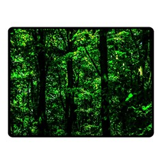 Emerald Forest Fleece Blanket (small) by FunnyCow