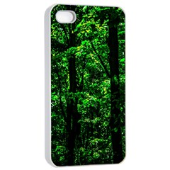 Emerald Forest Apple Iphone 4/4s Seamless Case (white) by FunnyCow