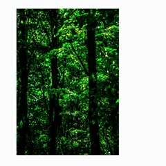 Emerald Forest Large Garden Flag (two Sides) by FunnyCow