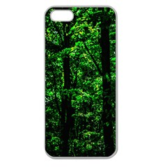 Emerald Forest Apple Seamless Iphone 5 Case (clear) by FunnyCow
