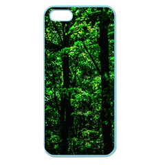 Emerald Forest Apple Seamless Iphone 5 Case (color) by FunnyCow