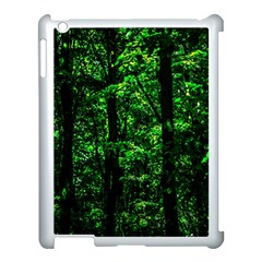 Emerald Forest Apple Ipad 3/4 Case (white) by FunnyCow