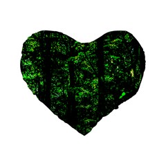 Emerald Forest Standard 16  Premium Heart Shape Cushions by FunnyCow