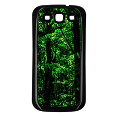 Emerald Forest Samsung Galaxy S3 Back Case (black) by FunnyCow