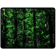 Emerald Forest Double Sided Fleece Blanket (large)  by FunnyCow