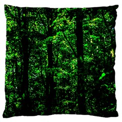 Emerald Forest Standard Flano Cushion Case (two Sides) by FunnyCow