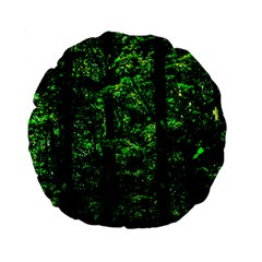 Emerald Forest Standard 15  Premium Flano Round Cushions by FunnyCow