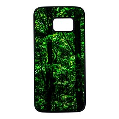 Emerald Forest Samsung Galaxy S7 Black Seamless Case by FunnyCow