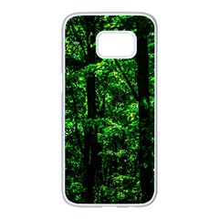Emerald Forest Samsung Galaxy S7 Edge White Seamless Case by FunnyCow